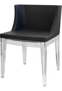 Cadeira Senhorita Or-1136 – Or Design - Preto / Base Transparente