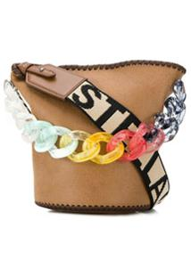 Stella Mccartney Bolsa Bucket Com Logo Stella - Neutro