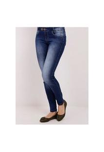 Calca Jeans Skinny Feminina Azul