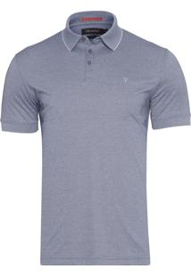 Polo Masculina Interloque Oxford Pima - Azul
