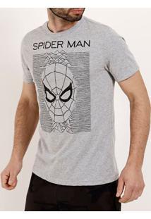 Camiseta Manga Curta Masculina Marvel Cinza