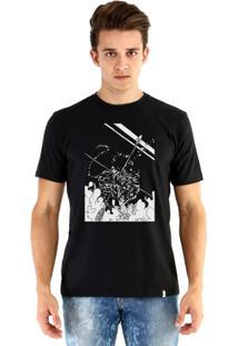 Camiseta Ouroboros Manga Curta Tigre - Masculino-Preto