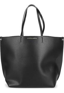 Bolsa Loucos & Santos Shopper Cobra Soft Basic Feminina - Feminino-Preto