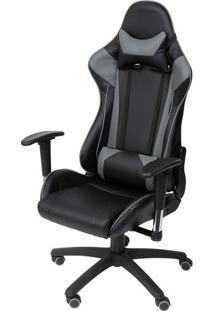 Cadeira Office Gamer- Preta & Cinza- 135X48X51Cmor Design