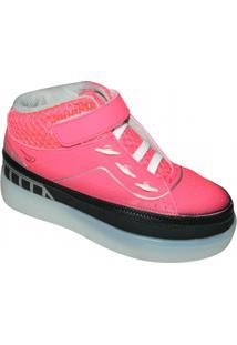 Tênis Ortope Zip Max - Masculino-Pink+Preto