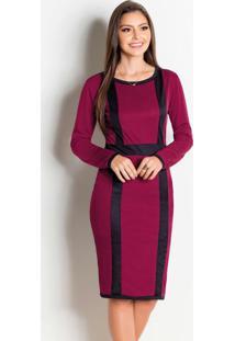 Vestido Marsala E Preto Moda Evangélica