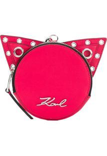Karl Lagerfeld Porta-Moedas 'K/Rocky Choupette' De Couro - Rosa