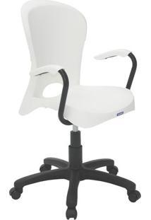 Cadeira Com RodãZio Jolie- Branca & Preta- 61,5X57X5Tramontina