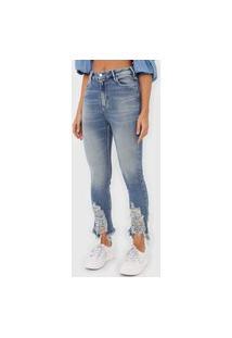 Calça Jeans Open Style Skinny Clara Azul