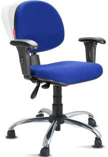 Cadeira Ergonômica Nr17 Crepe Premium Executiva Azul Royal