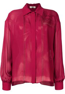 Fendi Blusa Com Bordado - Vermelho