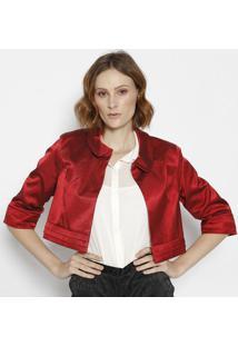 Casaqueto Com Pregas - Vermelha & Preta - Cotton Colcotton Colors Extra