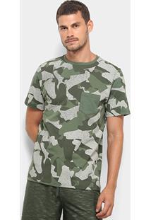 Camiseta Burn Camuflada Sneakers Masculina - Masculino