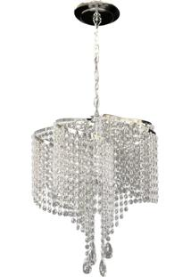 Lustre Redondo Lina Design Cristal Acrílico Bivolt Orlando 42X75