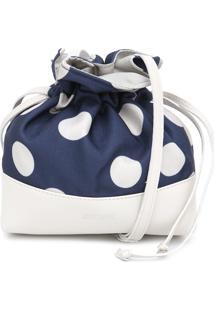 Bolsa Anacapri Poá Azul-Marinho/Branca