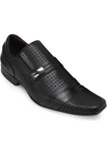 Sapato Social Couro Focal Flex Masculino - Masculino-Preto