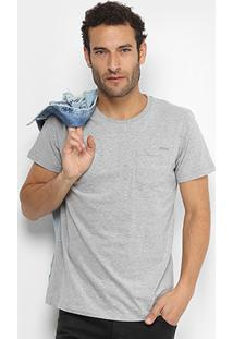 Camiseta Colcci Básica Bolso Masculina - Masculino
