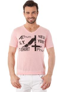 Camiseta 4Phun New York Rosa