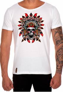 Camiseta Lucas Lunny T Shirt Gola Canoa Estampa Branco