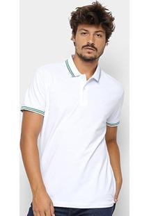 Camisa Polo Sommer Clássica Masculina - Masculino-Branco