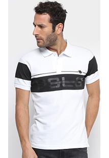 Camisa Polo Rg 518 Estampa Emborrachada Faixas Masculina - Masculino