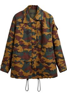 Burberry Jaqueta Militar Com Estampa Camuflada - Green