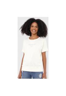 Camiseta Colcci Compartilhe Propósito Off-White