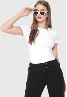 Blusa Malwee Básica Branca