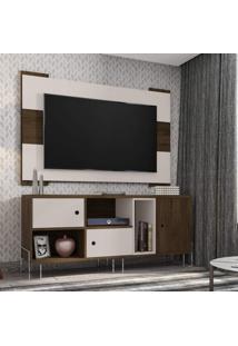 Rack Com Painel Para Tv Até 55 Polegadas 3 Portas E Nichos Viena Siena Móveis