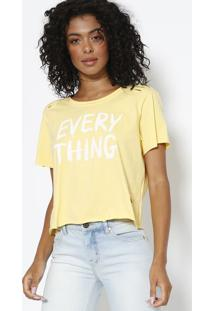 Camiseta ''Every Thing'' - Amarela & Branca - Sommersommer