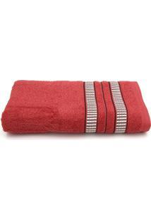 Toalha De Banho Santista Mike Telha Vermelha - Vermelho - Dafiti