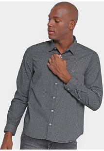 Camisa Opera Rock Bordado Estampa Masculina - Masculino-Preto