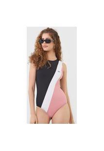 Body Calvin Klein Jeans Tricolor Preto/Rosa