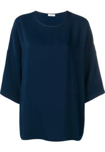 P.A.R.O.S.H. Dropped Shoulder Blouse - Azul
