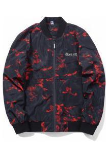 Jaqueta Bomber Masculina Design Camuflado - Vermelho