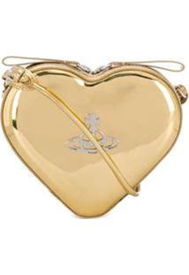 Vivienne Westwood Heart Shaped Crossbody Bag - Dourado