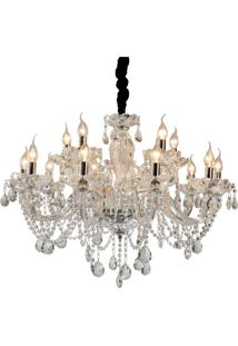 Lustre Albans Cristal Premier Iluminação, 166X81, Metal, Vidro E Cristais, Transparente Única