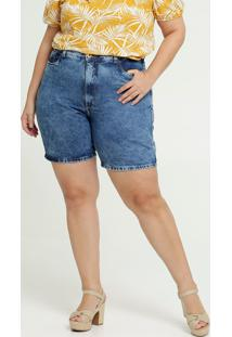 Bermuda Feminina Jeans Bolsos Plus Size Razon