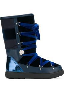 Moncler Bota De Inverno - Azul
