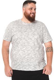 Camiseta Rovitex Plus Reta Branca/Preta