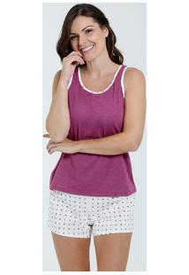 Pijama Feminino Short Doll Estampa Bolinhas Marisa