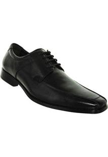 Sapato Preto Cosmo Flex Stretch Couro Democrata 57937018