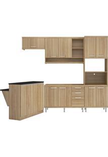 Cozinha Modulada 5 Peças 12 Portas Argila Acetinado Multimóveis