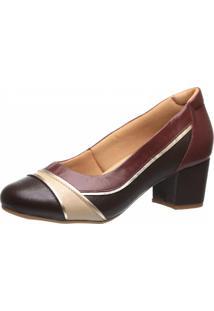 Sapato Feminino Doctor Shoes 289 Café/Petrus