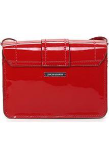 Bolsa Loucos & Santos Mini Bag Fivela Verniz Feminina - Feminino-Vermelho