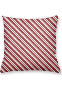 Capa De Almofada Decorativa Own Listras Vermelhas E Brancas 45X45 - Somente Capa
