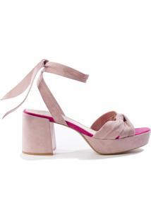Sandália Plataforma Rose Rosa