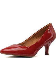 Scarpin Sw Shoes Vermelho Salto Baixo - Azul/Vermelho - Feminino - Couro Sintã©Tico - Dafiti