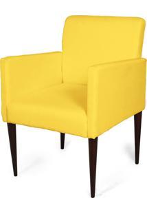 Cadeira Decorativa Sala Mademoiselle Plus Amarela - Kanui
