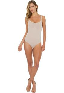 Body Estético Com Abertura Lateral - Feminino-Nude